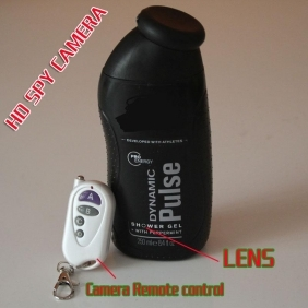 Super Low Light 1080P Motion Detection Men's Shower's Gel Bottle Spy Camera 32GB (Free-shipping DHL Worldwide)