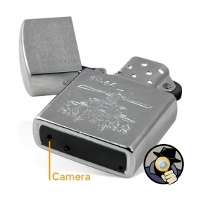 4GB Silver Spy Camera Lighter DVR