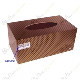 4GB Tissue Box Style Digital Video Recorder with Remote Control and Hidden Pinhole Color Camera