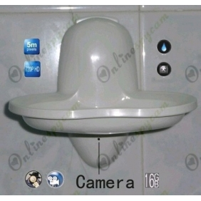 5.0 Mega Pixel New Bathroom Spy Soap Box Hidden Camera DVR 16GB 1280x720P