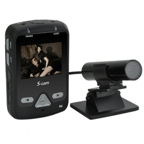 8GB HD Mini Bullet Camera Digital Video Record with 2 inch LED Screen Sony HAD CCD DVR