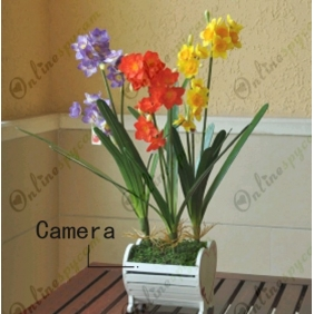 Beautiful Decoration Artificial Flowers Hidden HD Pinhole Spy Camera DVR 16GB