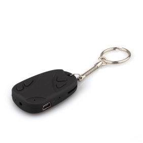 Black Car Key Chain Spy Camera Mini DV Camcorder Supporting up to 16G External TF Card/Hidden Camera