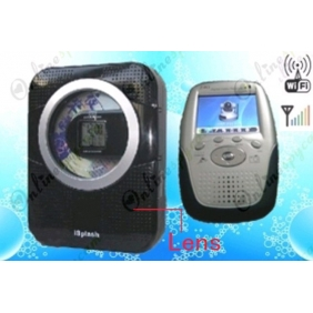 Black Wireless Shower CD/ Radio Camera -  Wireless Hidden Spy Camera