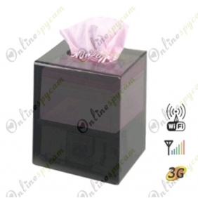 CCD 480TVL HR DVR Tissue Box Covert DVR Camera Supporting 32GB SD Card up to 64 Hours