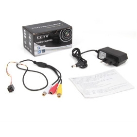 CCD Spy 520TVL Mini CCTV Camera + High Definition, Night Vision