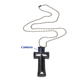 Cross with Necklace Mini Digital Video Recorder 4GB Memory included Hidden Camera