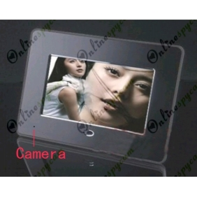 "Digital Photo Frame 7"" LCD (800x480) Hidden Pinhole Camera DVR 16GB HD 1280X720"