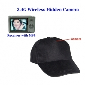 2.4GHz FM wireless Hat Hidden Camera