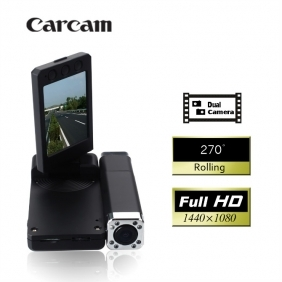 HD 2560x1920 2.0 Inch Car DVR with 2 Cameras Night Vision Motion Detection Lens,Car Security Camera