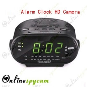 Alarm Clock Hidden Spy Camera DVR 32GB Internal Memory( Remote Control + Motion Activated)