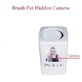 Hidden Camera Brush Pot Spy Camera With 16GB Memory