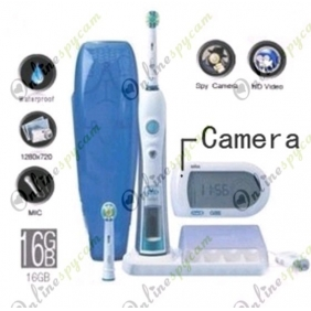 Intelligent 3D Electric Toothbrush Pinhole Spy HD Hidden Camera 1280X720 DVR 16GB