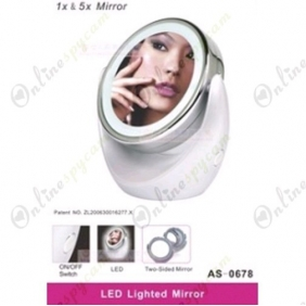 LED Lighted Double Sided Mirror Hidden Spy HD Camera DVR 8GB 1280x720