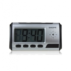 New Black Clock Camera 1280*960 with Video Photo Motion Detection and Remote Control Function
