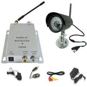 Night Vision Weatherproof Color Wireless Security Camera Kit