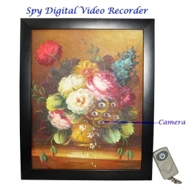Painting Digital Video Recorder with Remote Control 4GB Hidden Pinhole Camera DVR
