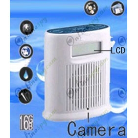Bathroom LCD Radio Hidden 720P HD Pinhole Bathroom Spy Camera DVR 16GB (Motion Activated)