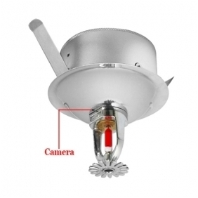 1/3 Inch Sony Color CCD Fire Sprinkler Style Wired Camera with Audio