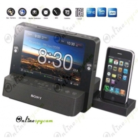 Multi-function Alarm Clock Radio Digital Photo Frame 720P HD Spy Camera DVR 16GB(Motion Detection)