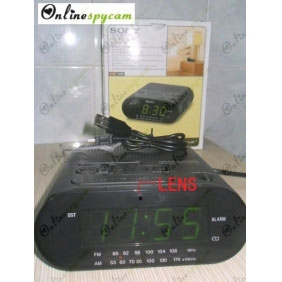Alarm Clock And Radio Hidden 1280x720 HD Spy Camera 16GB