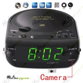 Alarm Clock CD/Radio Hidden Spy HD Camera DVR 16GB 1280x720