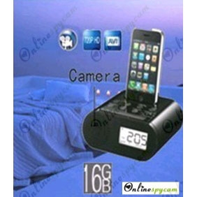 Alarm Clock Spy HD Bedroom Spy Camera DVR 16GB 1280x720