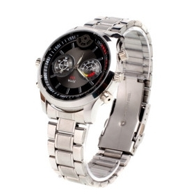 HD Waterproof All Metal Sport Watch with Motion Detector + Digital Video Recorder (8GB)