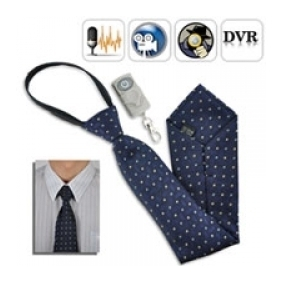 Spy Camera Tie with Wireless Remote control Neck Tie Spy Camera DVR w/ 4GB & Remote Control