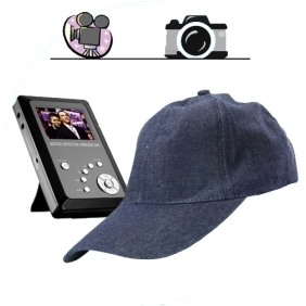 Spy Cap Hidden Recorder - Spy Kit with Camera + DVR + SD Card