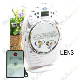 Spy CD/Radio With Mirror Hidden Waterproof HD Bathroom Spy Camera 16GB 1280X720 DVR