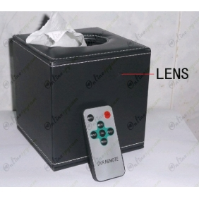64 Hours Work Motion detection CMOS HR DVR Tissue Box Covert Camera AV OUT 32GB 1280X720 LCD Display