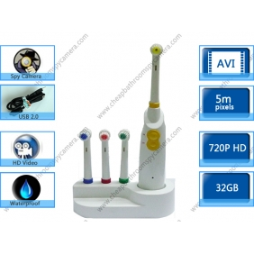 Toothbrush Bathroom Spy Cams Waterproof HD Pinhole Camera  DVR 1280x720 32GB