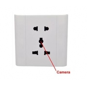 Voice Activated Security Spy Socket Camera Record DVR