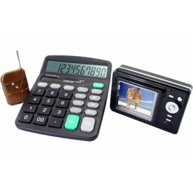 Wireless Spy Calculator Camera With Portable Receiver