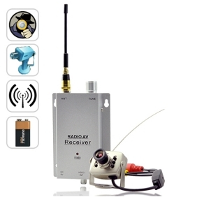 Mini Wireless Spy Camera Transmitter with Receiver Set