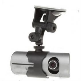 "Car GPS DVR Camcorder 2.7"" Vehicle Dual-Cam Black Box"
