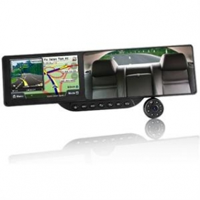 "Car Bluetooth Rearview Mirror 5.0"" Vehicle GPS DVR Mirror"
