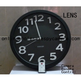 Wall Clock Hidden Spy Camera DVR with Internal Momory 16GB Motion Activated