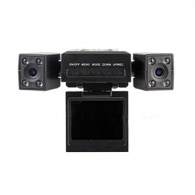 "Dual Camera Vehicle Video Recorder 2.0"" IR Car DVR Black Box"