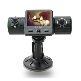 "Dual Camera Car Video Recorder 2.0"" GPS Vehicle Camcorder"