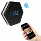 1080P WIFI Wireless Night vision Color Mirror Spy Clock Video recorder Wireless Clock security camera