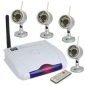 2.4GHZ Four Channel Remote Wireless Receiver with 4x Night Visio
