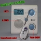 Bathroom LCD Radio Motion Activated 720P HD Bathroom Spy Camera DVR 32GB Remote Control on/off