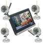 2.4GHz Wireless Security Systems Tool Kit, 7-inch Digital Color TFT LCD, 2.4GHz Wireless Audio-visual Receiver Monitoring