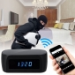 1080P Night Vision Wireless WIFI Remote Clock Spy Camera WIFI hidden alarm clock for Android and IOS