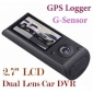 "2.7"" Dual Camera Car DVR GPS Vehicle Black Box Camcorder - C032"