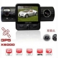 "GPS Car Black Box Camcorder 2.0"" Dual Camera Vehicle IR DVR"