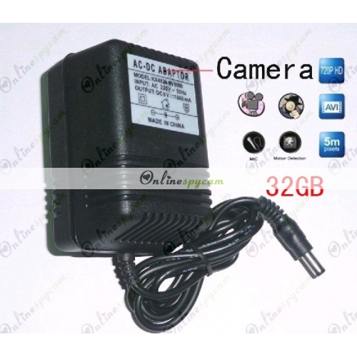 32gb charger hidden hd bedroom spy camera dvr 1280x720 motion