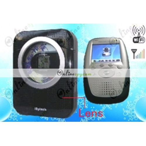Black Wireless Shower Cd Radio Camera Wireless Hidden Spy Camera